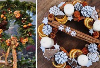 Ароматный новогодний декор с хвоей и пряностями