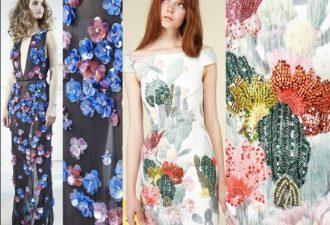 Декор платьев цветами и стразами: детали прекрасных нарядов