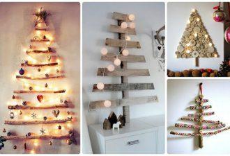 Новогодние елочки из дерева и фанеры: альтернатива живым собратьям