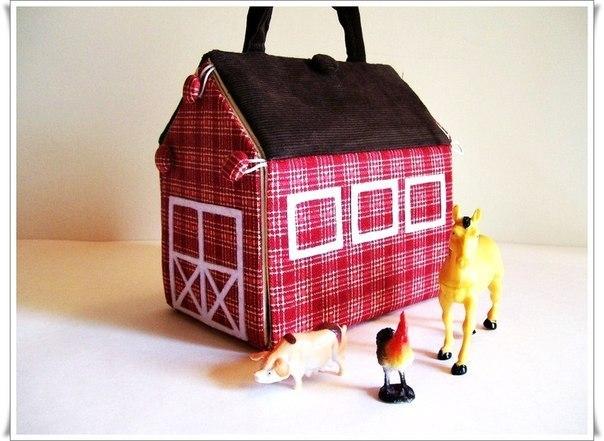 Кукольный домик из ткани своими руками с выкройками