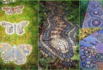 Впечатляющие садовые дорожки из камней своими руками