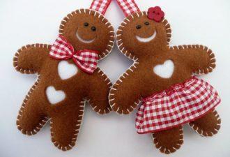 Идеи и выкройки рождественских игрушек из фетра