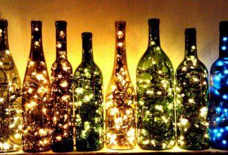 Гирлянда в бутылке: простое и необычное украшение для дома