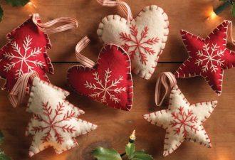 Самые очаровательные рождественские игрушки из фетра своими руками