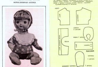 Милые платья на кукол-пупсов: модели с выкройками