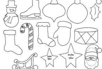 Новогодние орнаменты для игрушек и елочных украшений