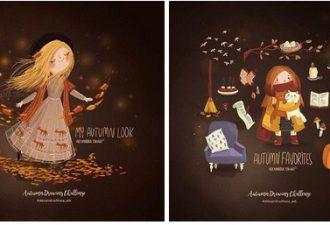 Осень в представлении художницы Александры Дикой