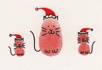 Новогоднее творчество с детьми: используем отпечатки