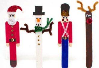 Палочки для мороженого в новогоднем декоре: 12 поделок