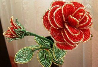 Розы из бисера: вдохновение в необыкновенных работах мастеров