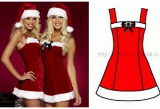 Шьём платье и шапочку подружки Санта Клауса своими руками