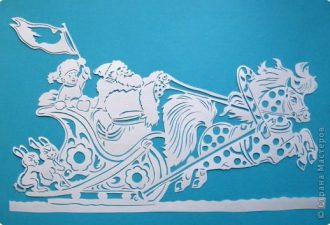 Новогодние трафареты из бумаги для украшения окон