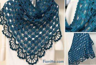 Две потрясающие вязаные шали со схемами вязания