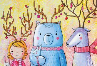 Добрые зимние иллюстрации от Ирины Смирновой