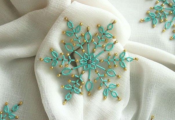 Снежинки из бисера своими руками: мастер-класс по созданию