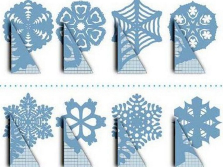 45 шаблонов бумажных снежинок для зимнего творчества