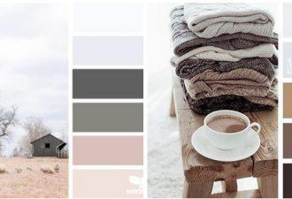 Тёплые сочетания цветов для вашего творчества: 10 вариаций