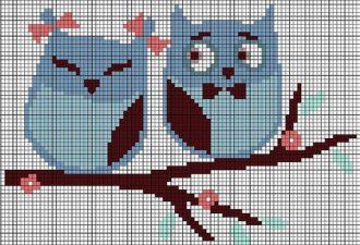 Всем любителям сов: 10 схем для вышивки крестом