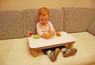 Простой столик для вашего ребенка своими руками за полчаса