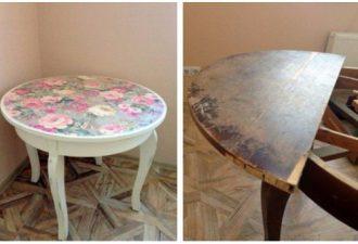 Новая жизнь старого стола: наблюдаем за перевоплощением