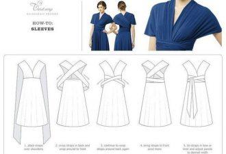 Платье-трансформер на любой случай: пошив и способы использования