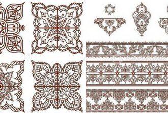 Орнаменты для точечной росписи, вышивания и декупажа