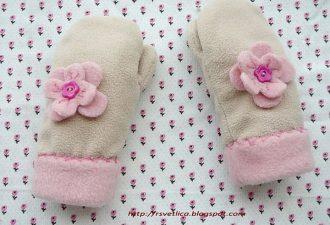 Тёплые варежки на зиму своими руками: два вида выкроек