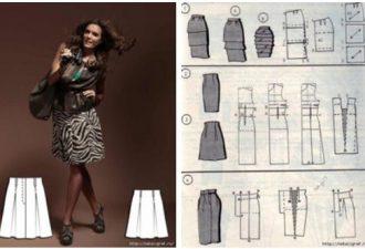 Моделирование юбок 20 способами: подборка способов построения