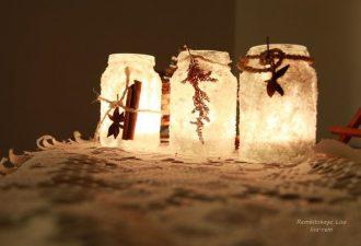 Соляные подсвечники: оригинальная новогодняя декорация за полчаса