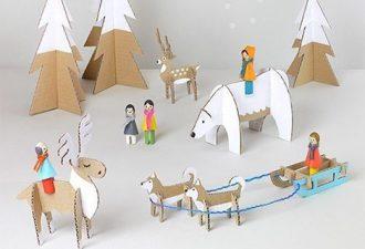 Набор классных игрушек для детей из обычных картонных коробок