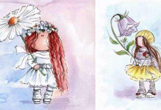 Акварельные принцессы от Anett: очарование в простых формах