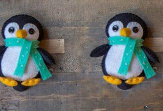 Маленький пингвинчик из фетра: бесподобная игрушка для детей