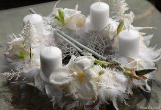 10 новогодних идей оформления интерьера свечами