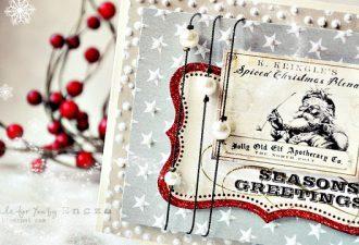 Новогодний скрапбукинг: 14 идей праздничных открыток