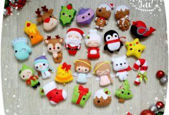 26 идей простых и милых фетровых игрушек на Новый год