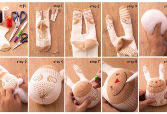 8 очаровательных игрушек из носков, которые понравятся вам и вашим детям