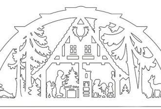 10 рождественских трафаретов из бумаги для ваших окон