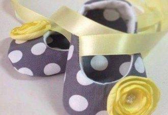 Самые очаровательные пинетки для малышей с выкройками