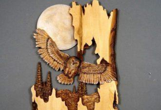 Тончайшая резьба по дереву от Vladimira Davydo