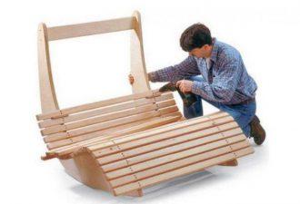 Удобное кресло-качалка простой формы: мини мастер-класс