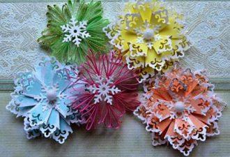 Снежинки-подвески из бумаги мастер-класс по созданию