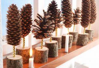 Деревянный новогодний декор или что можно сделать из кусочка деревяшки