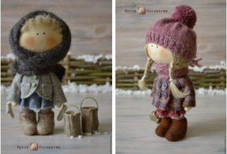 Текстильные куклы Ирины Смольковой: очарование в простоте