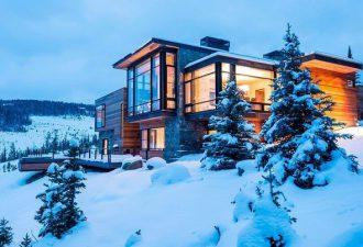 Уютный дом в горах для тех, кто любит зиму