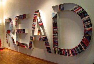 Книжные полки из всего на свете для вашего дома