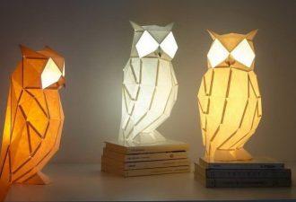 Бумажные светильники с необычным дизайном: креативное освещение помещения
