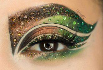 Самый яркий и необычный праздничный макияж от известного дизайнера
