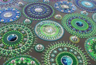 Калейдоскопические инсталляции из зеркал, кристаллов и стекла
