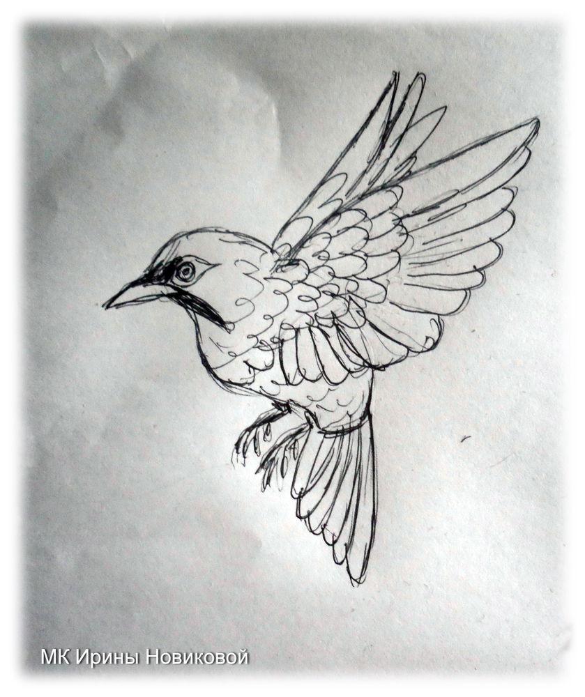птичка-брошь